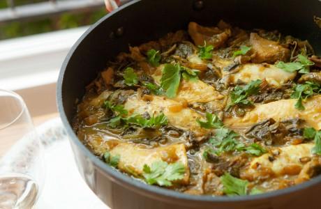 תבשיל דג, ארטישוק ושלל ירוקים