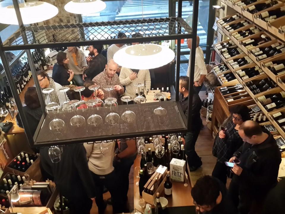 ספריית היין של הג'יאקונדות. מבט על. צילום: רפאלה רונן