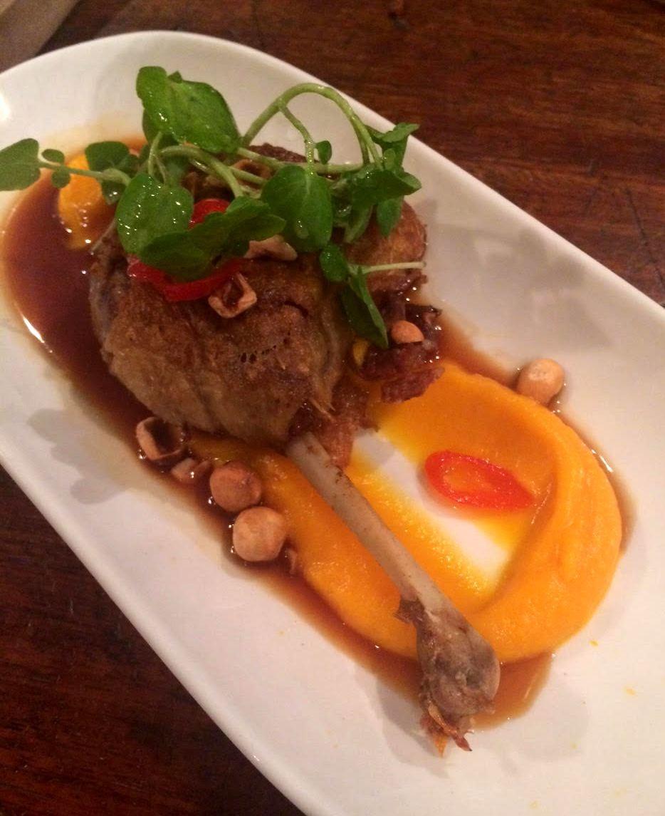 קונפי ברווז שאכלתי בלונדון. כי לפעמים אני שוכחת לצלם את מה שבישלתי...